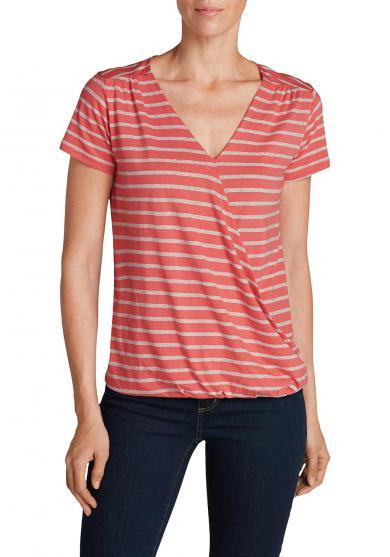 T-Shirt mit Wickelfront Damen