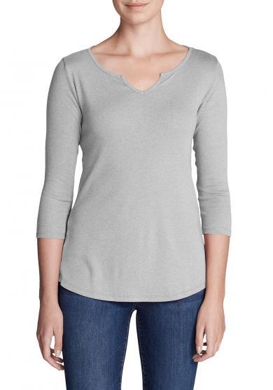 Favorite Shirt - 3/4-Arm mit Y-Ausschnitt - uni Damen