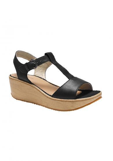 Kara Sandale mit Keilabsatz in Holzoptik Damen