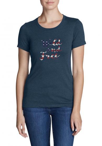 T-Shirt - Wild and Free Damen