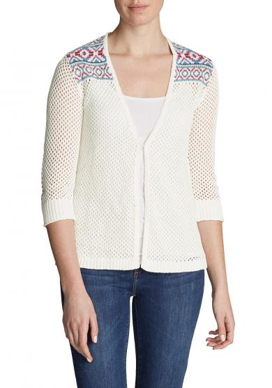 Beachside Cardigan -gemustert Damen