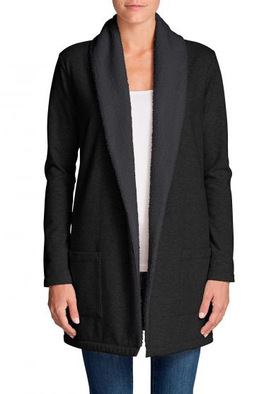 Camp Fleece Cardigan mit Sherpa-Futter Damen