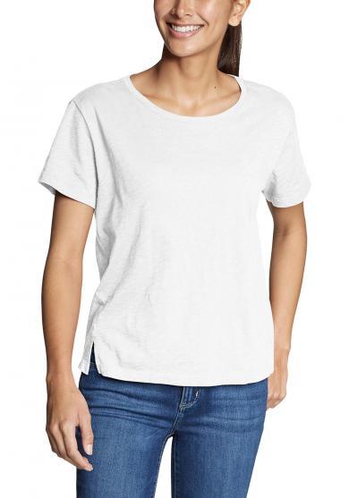 Legend Wash Slub Shirt - Kurzarm mit Rundhalsausschnitt Damen