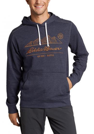 Camp Fleece Sweatshirt mit Kapuze - bedruckt Herren