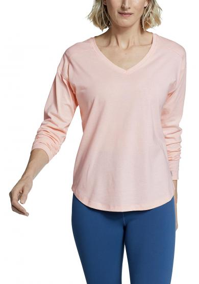 Myriad Langarmshirt - V-Ausschnitt uni Damen
