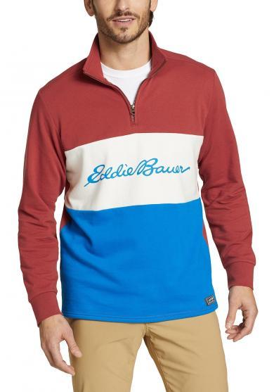 Camp Fleece Sweatshirt mit 1/4 Reisverschluss Herren