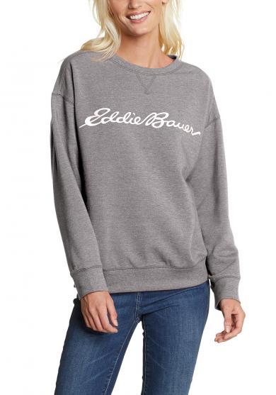 Cozy Camp Fleece Logo Sweatshirt Damen