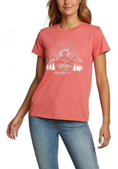 T-Shirt - Mountain Sunrise Damen