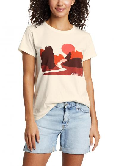 Graphic Outdoor Geo - T-Shirt Damen
