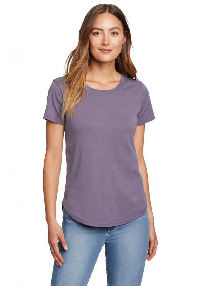 Favorite T-Shirt mit gerundetem Saum Damen
