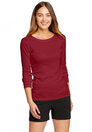 Favorite Shirt - Langarm mit Rundhalsausschnitt - uni Damen