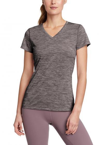 Resolution T-Shirt mit V-Ausschnitt Damen