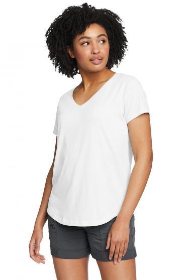 Boundless T-Shirt mit V-Ausschnitt Damen