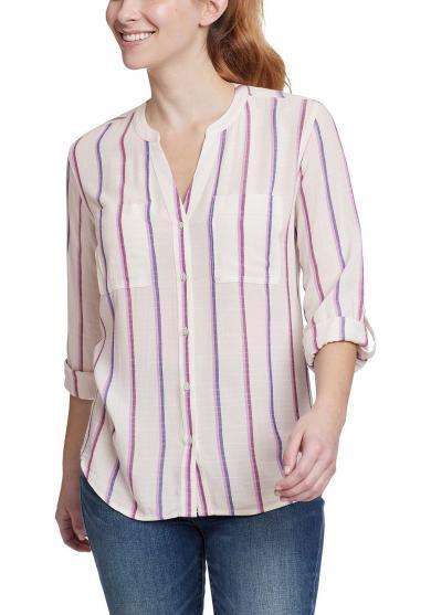Rivierah Shirt - langarm mit Y-Ausschnitt Damen