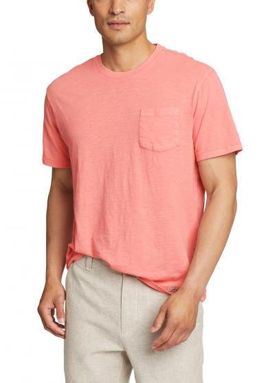 Earthwash Slub-Shirt mit Tasche - kurzarm Herren