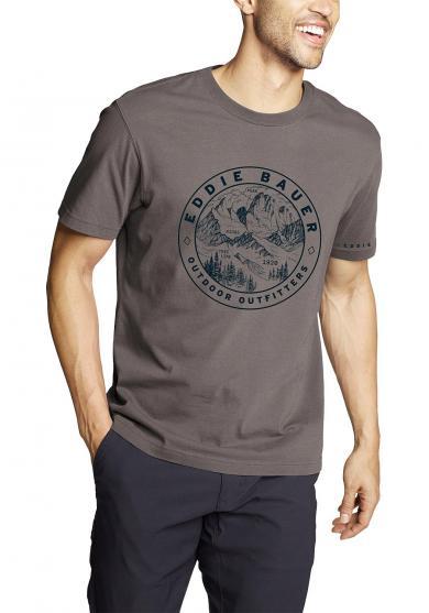 Graphic T-Shirt Circle Topo Herren