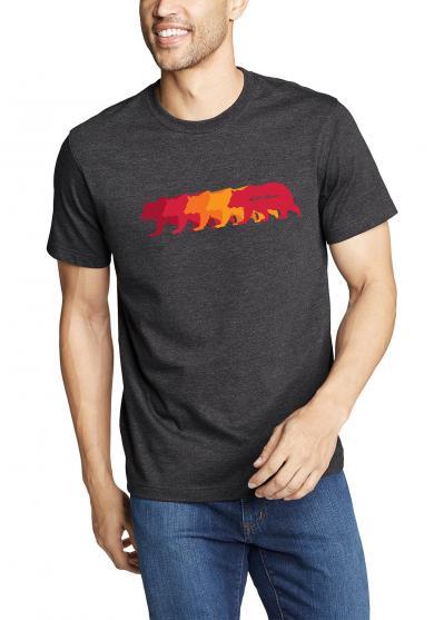 Graphic T-Shirt Bear Line Herren