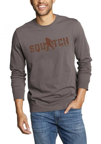 Graphic Langarmshirt Squatch Herren